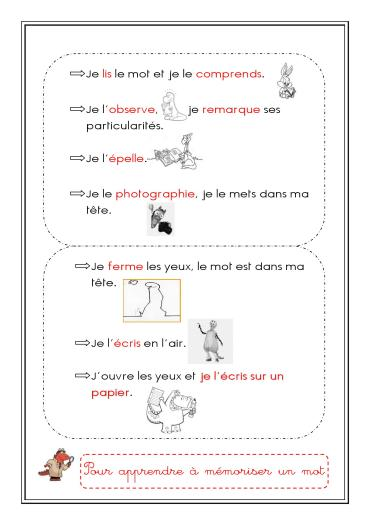 jpeg apprendre a memoriser un mot