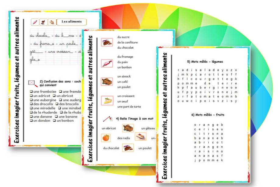 fiches-exercices-imagier-fruits-legumes-autres-aliments-cp-cycle2