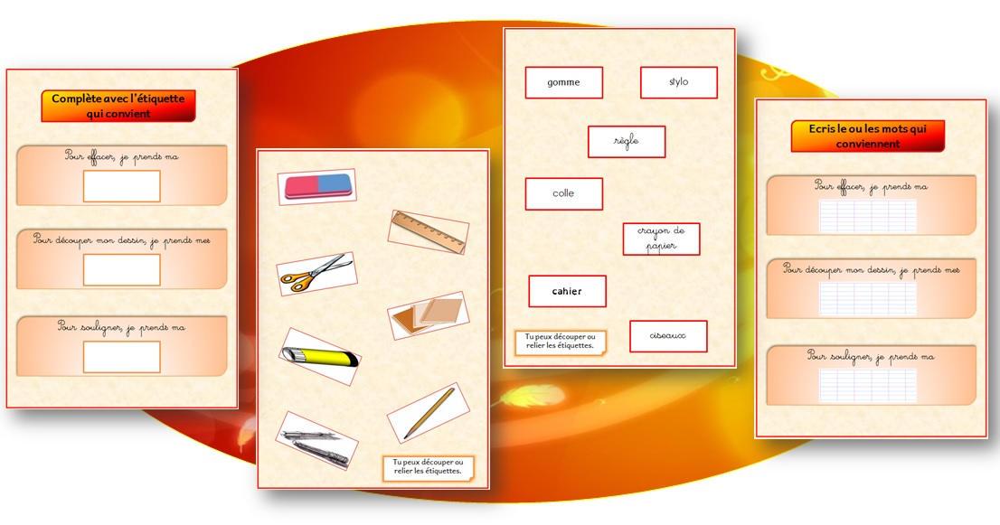 Exceptionnel Imagier de l'école et du matériel scolaire   Le cycle 2 - Après l  CA98