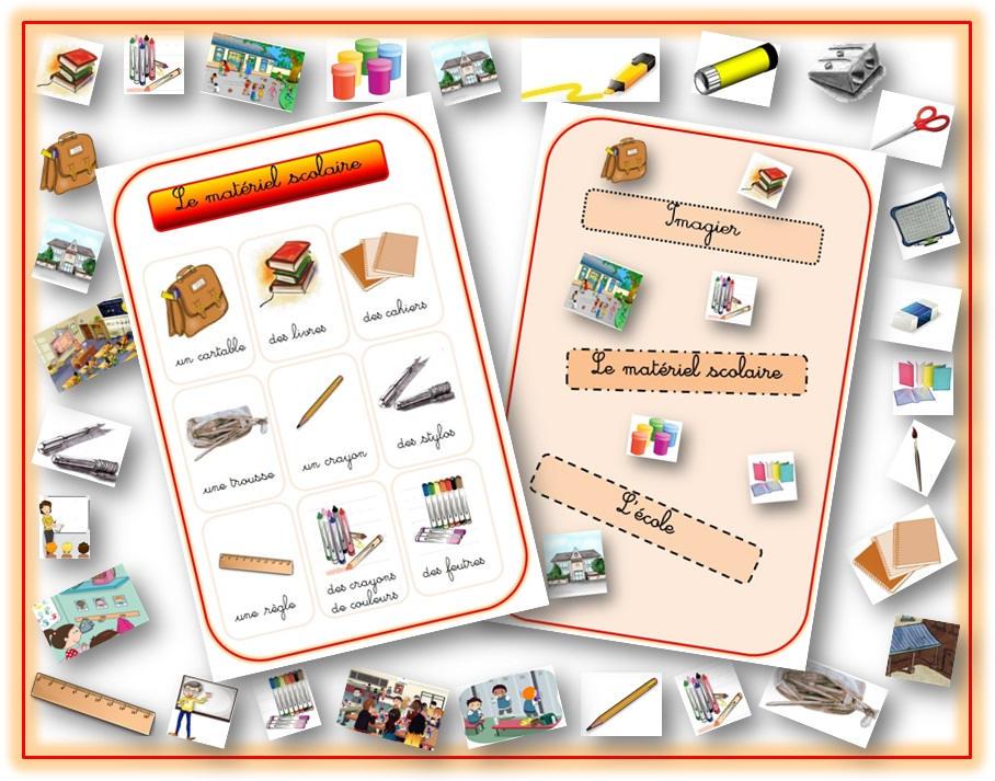 imagier de l cole et des objets de la classe outils d aide l apprentissage de la langue. Black Bedroom Furniture Sets. Home Design Ideas