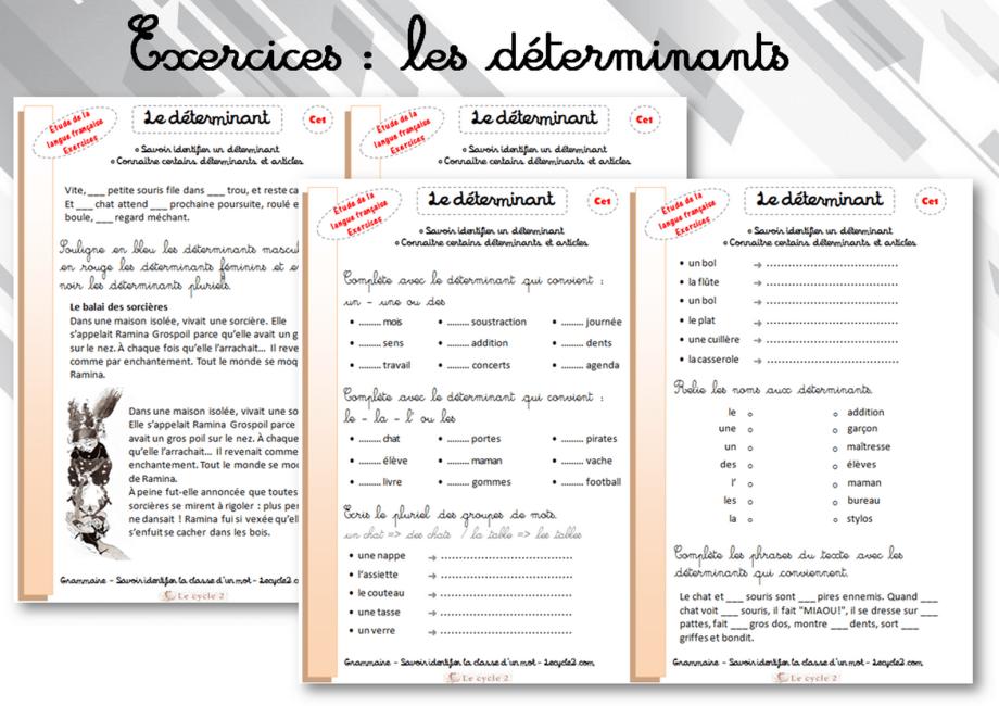 exercices-determinants-ce1-ce2-grammaire-trace-ecrite-lecon-cycle-2-identifier-la-classe-d-un-mot