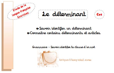le-determinant-ce1-cycle-2-savoir-identifier-un-determinant-connaitre-certains-determinants-et-articles