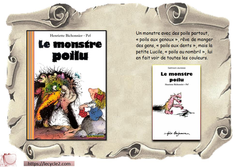 Le monstre poilu - Henriette Bichonnier - Pef
