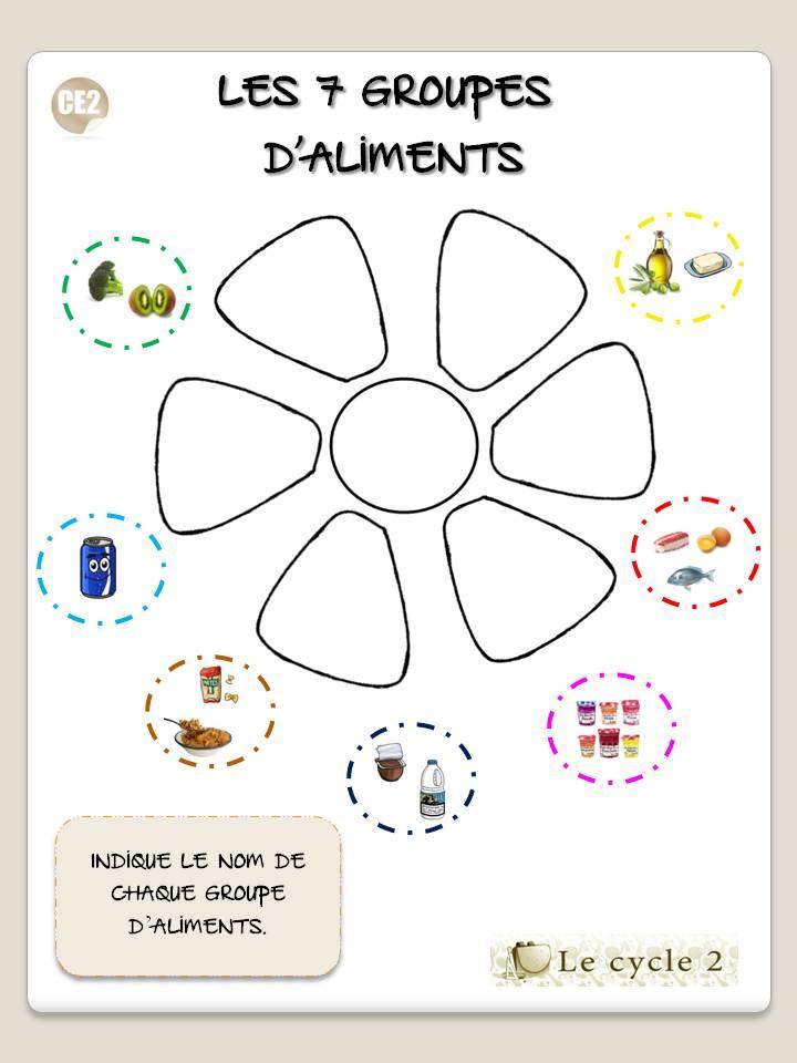 indique-le-nom-de-chaque-groupe-d-aliments-fleur-des-7-groupes-d-aliments-ce1-ce2